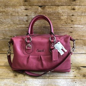 Coach Ashley Leather Pink Handbag Satchel Purse